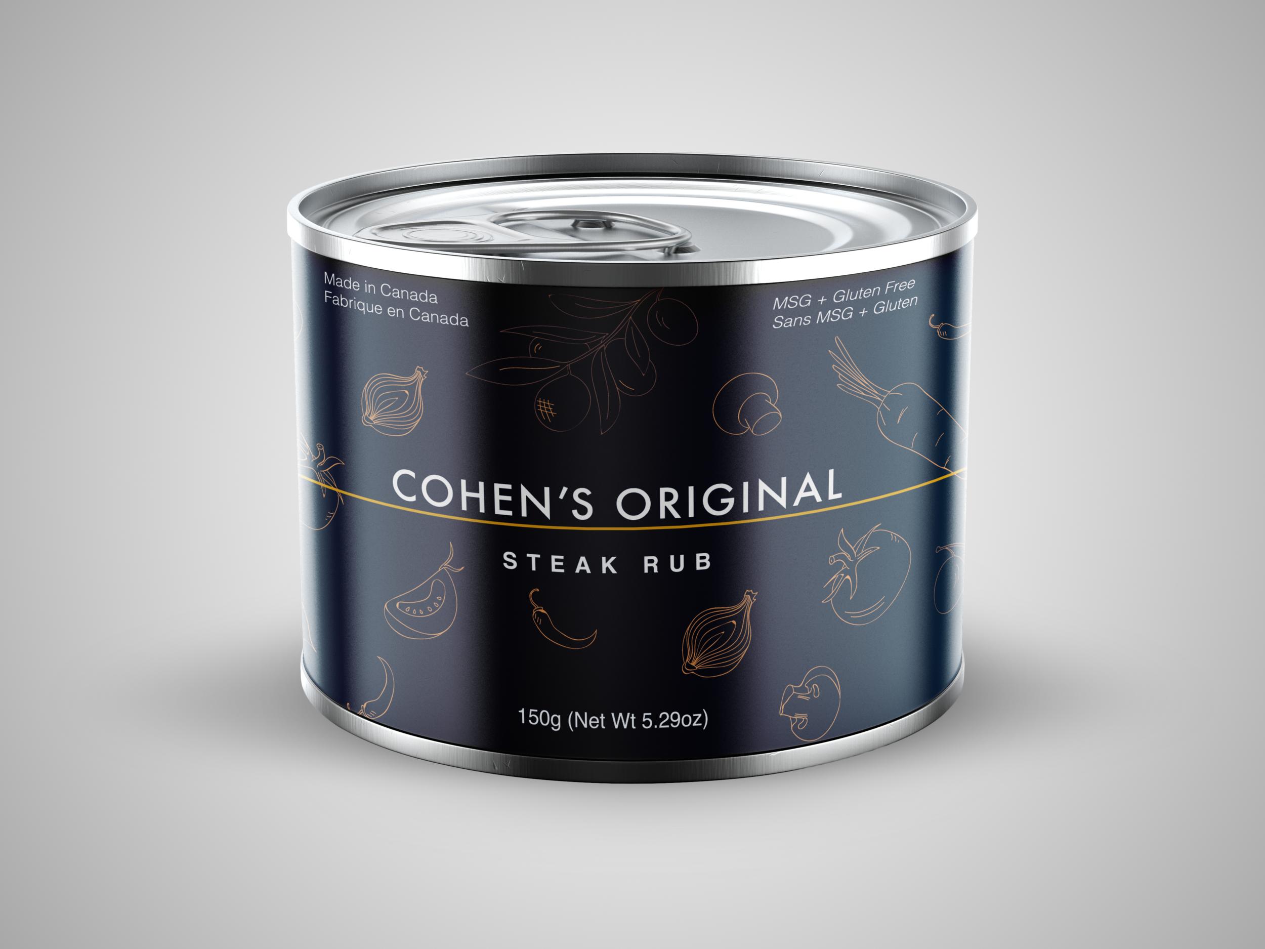 Ace Digital Designed Packaging for Cohen's Original Steak Rub