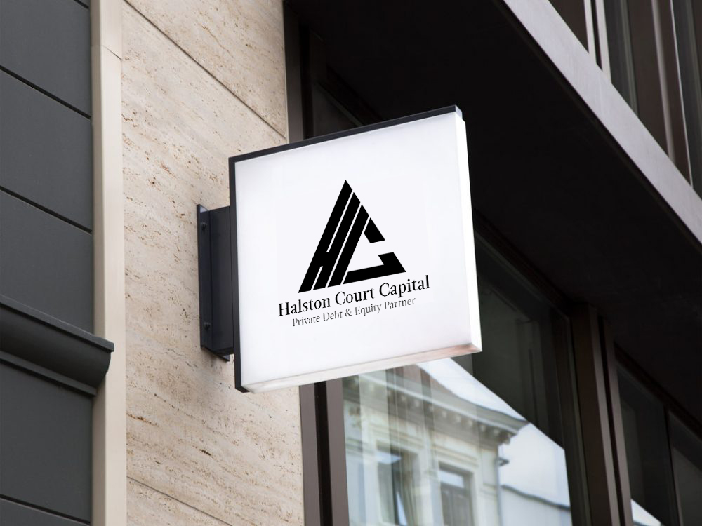 Logo Design & Exterior Signage created by Ace Digital for Halston Court Capital