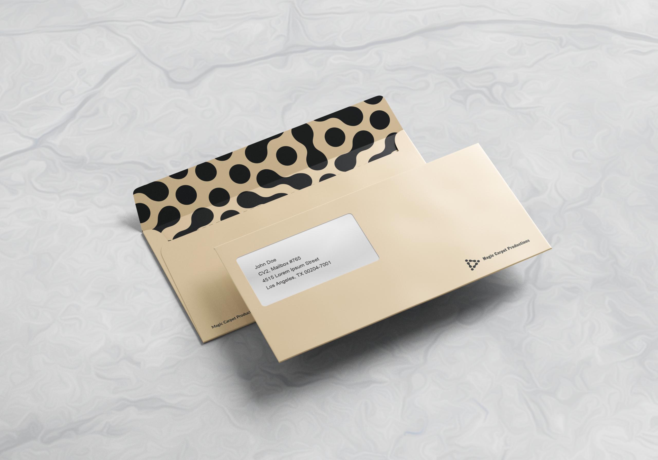 Ace Digital created envelope design for Magic Carpet Productions