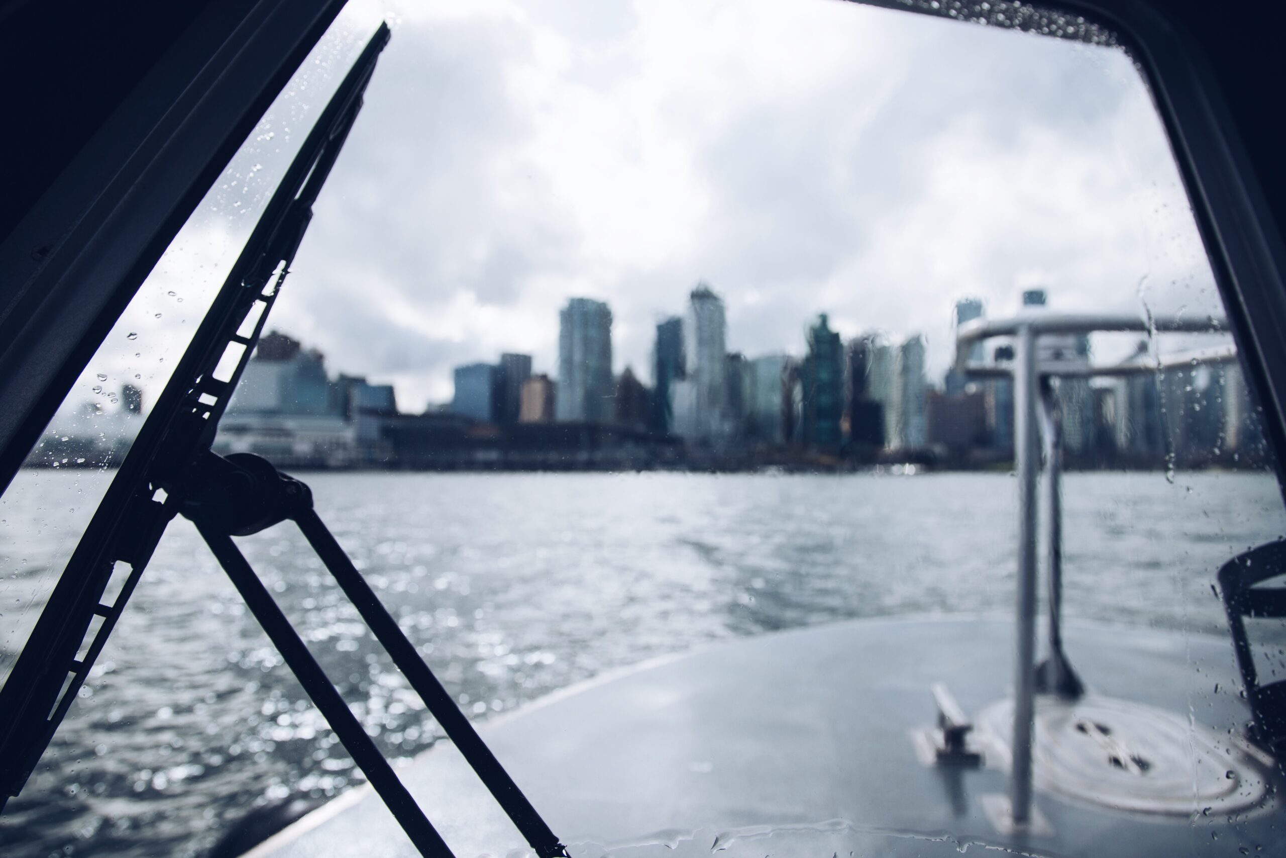 Tymac Storm Passenger Seat View of Vancouver, BC