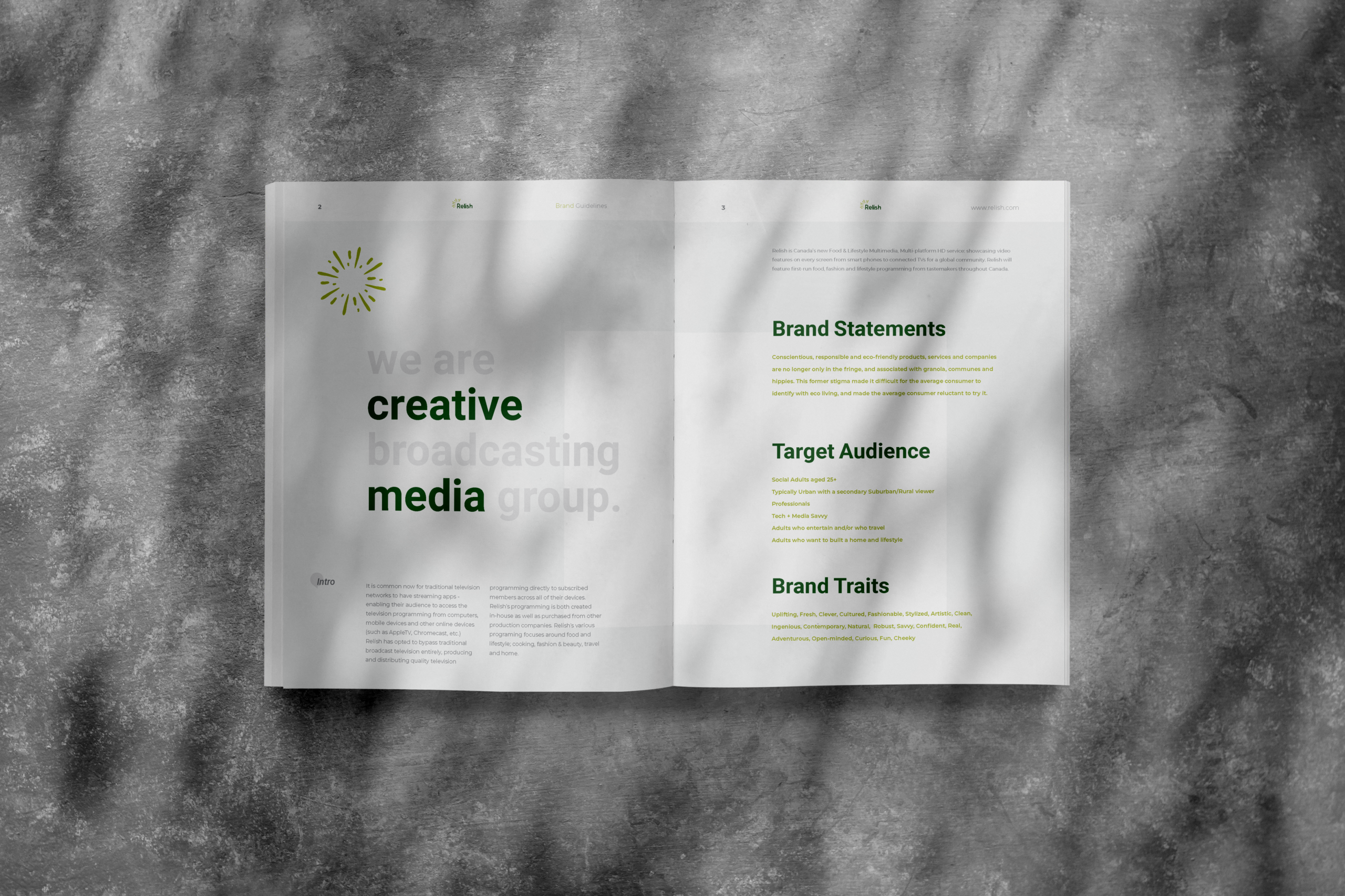 Branding & Style Guide created for Relish by Ace Digital