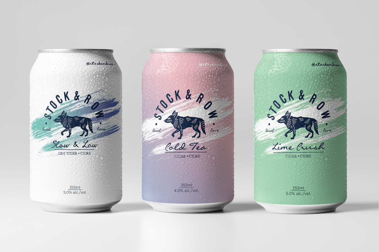 Ace Digital Designed Dry Cider Can Packaging for Stock & Row Cold Tea