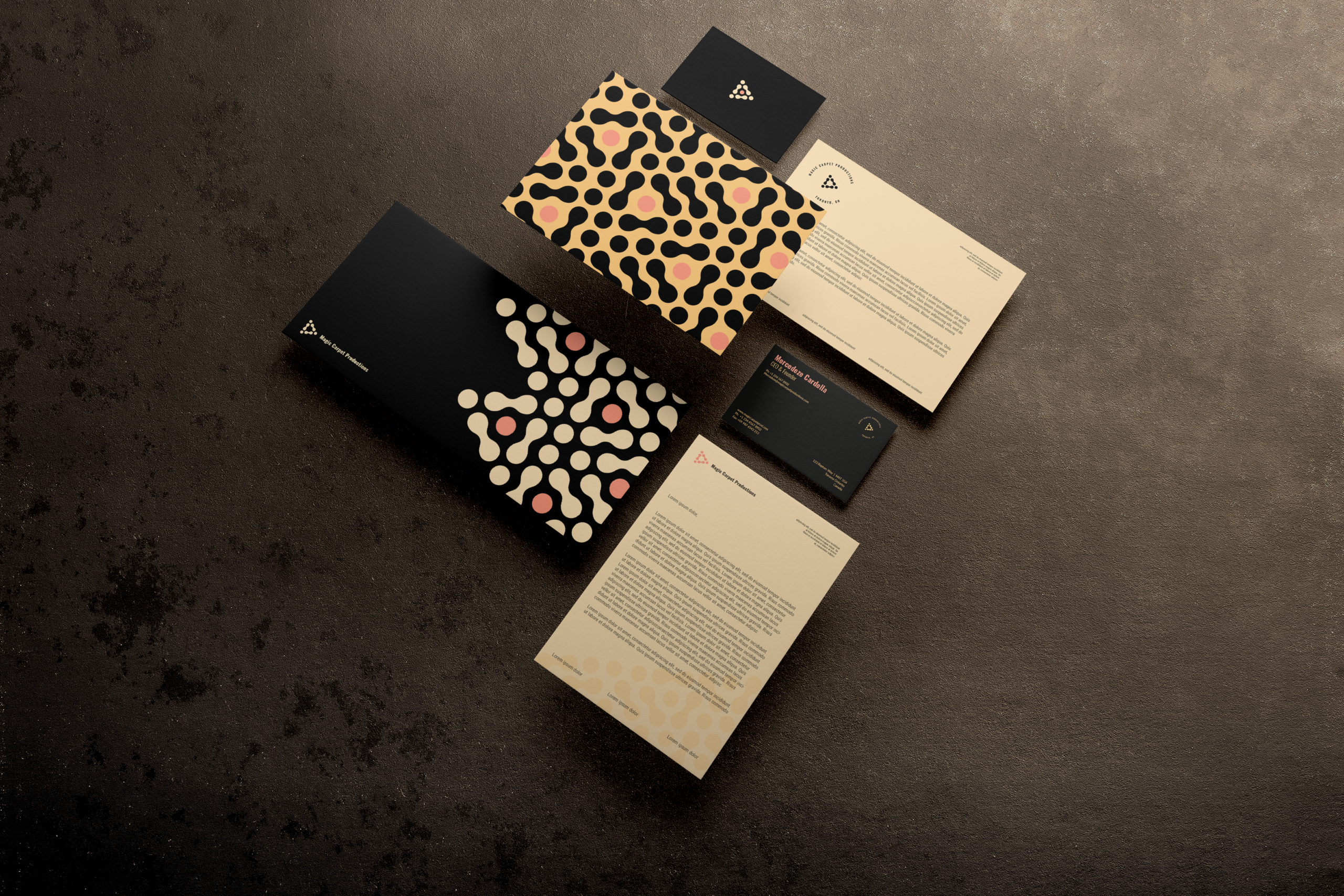 Branding Collateral created for Magic Carpet Productions by Ace Digital