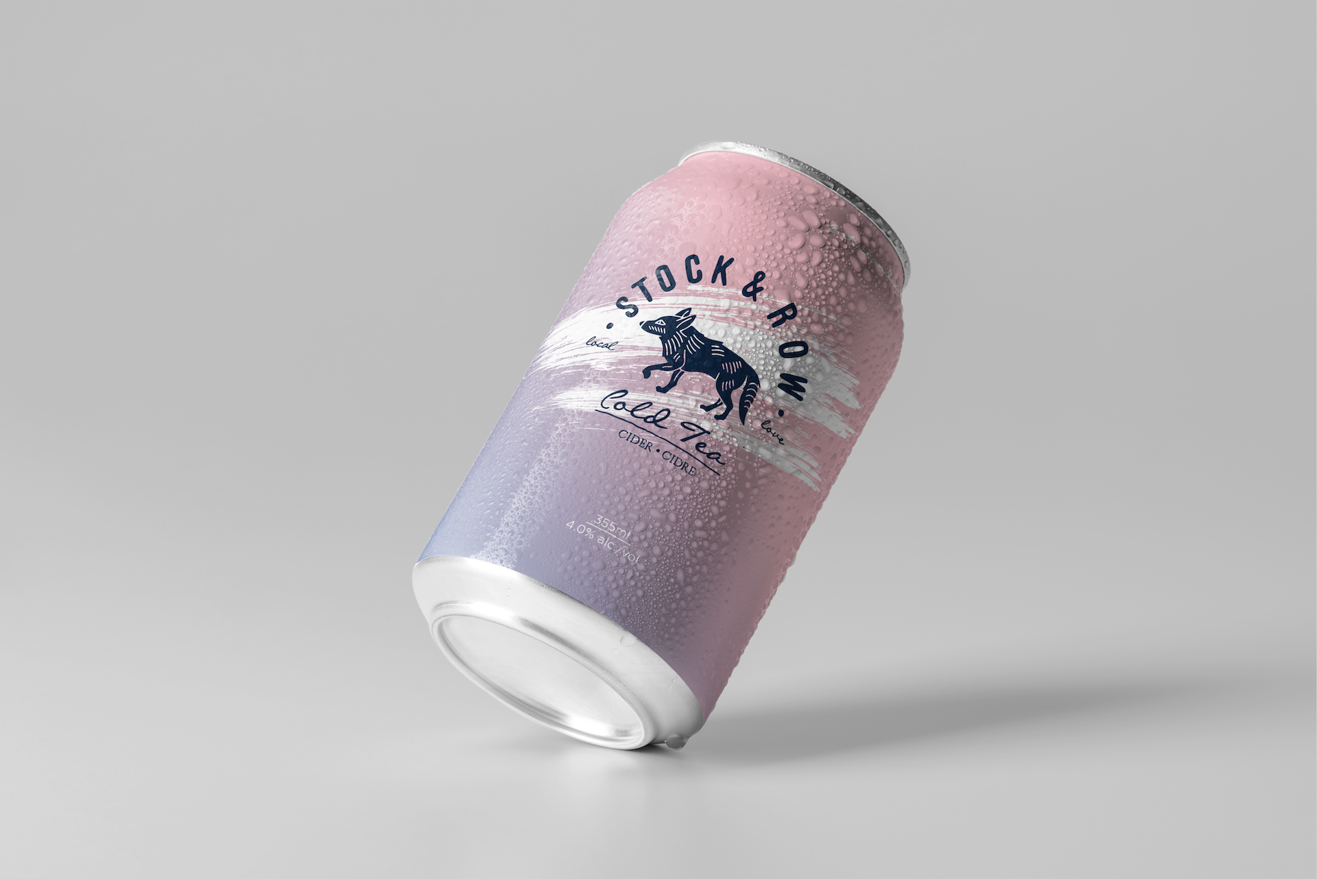 Ace Digital created can packaging for Stock & Row