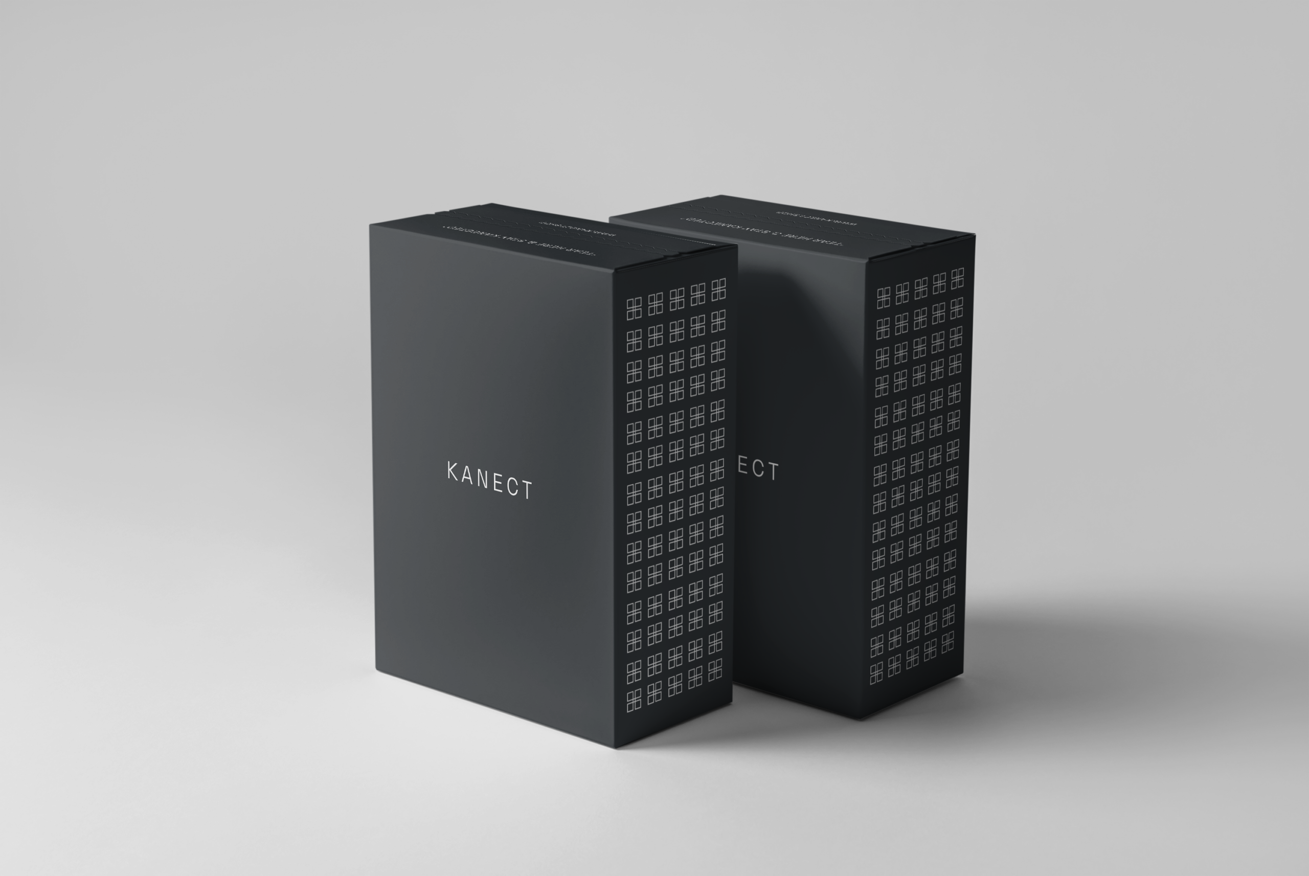 Black Clothing Box Design created by Ace Digital for Kanect Clothing