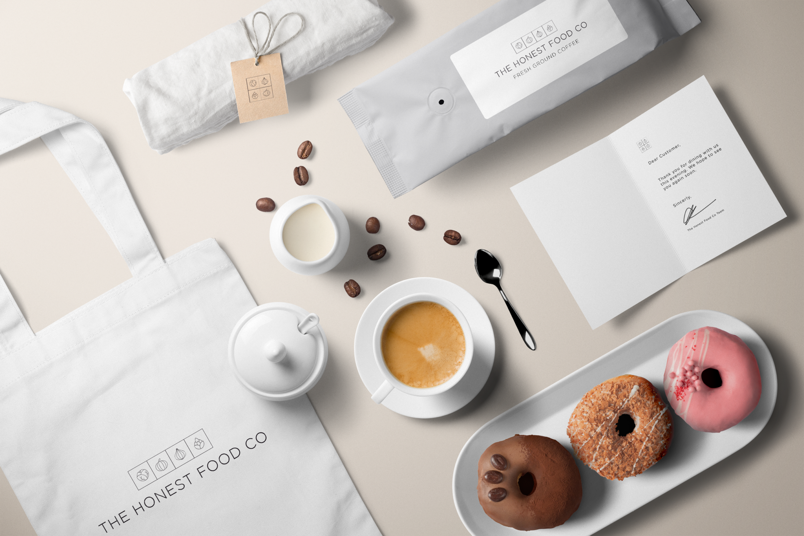 Demonstration of the design work Ace Digital created for The Honest Food Company