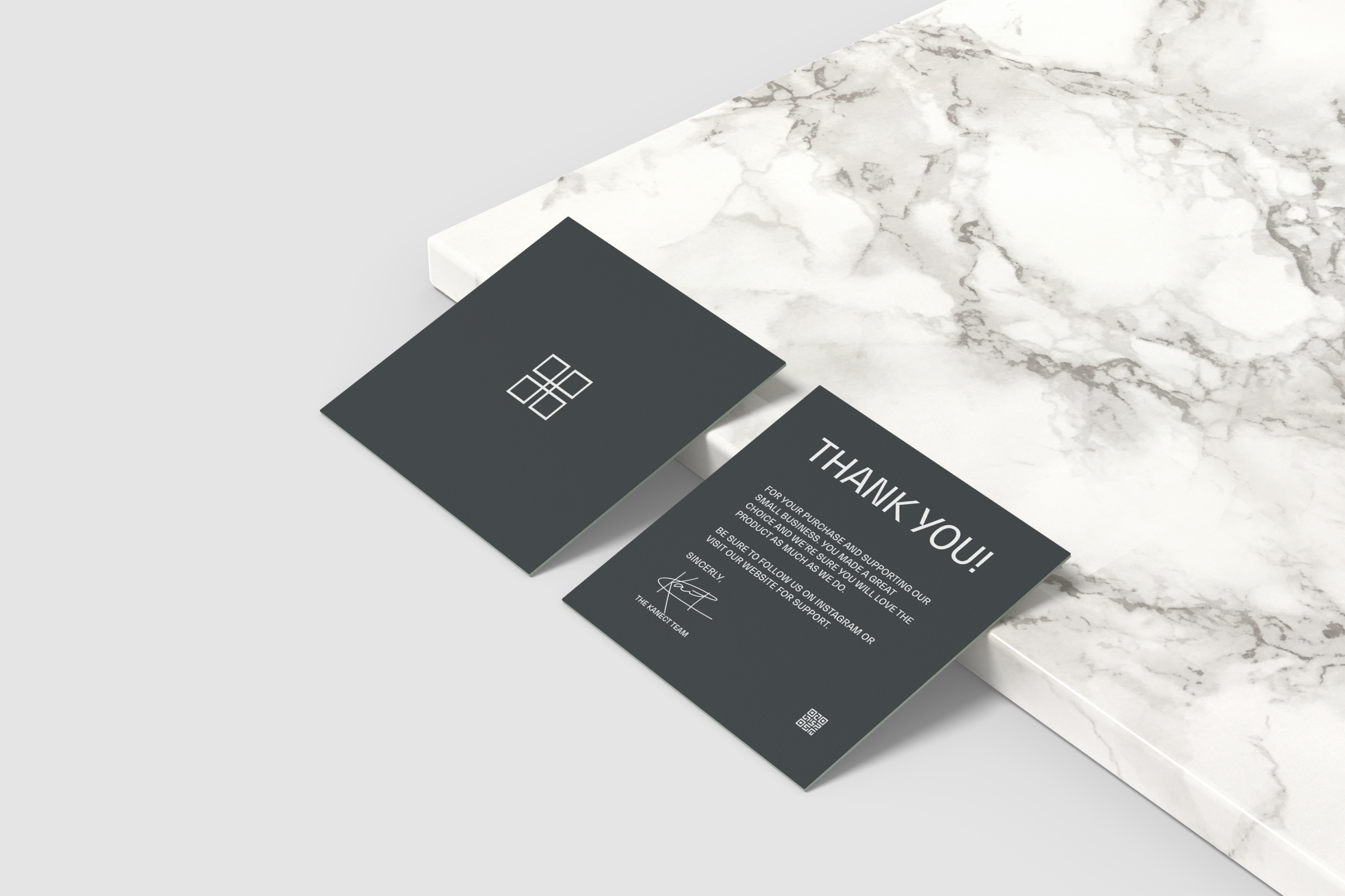 Thank You Card (Black) designed by Ace Digital for Kanect Clothing